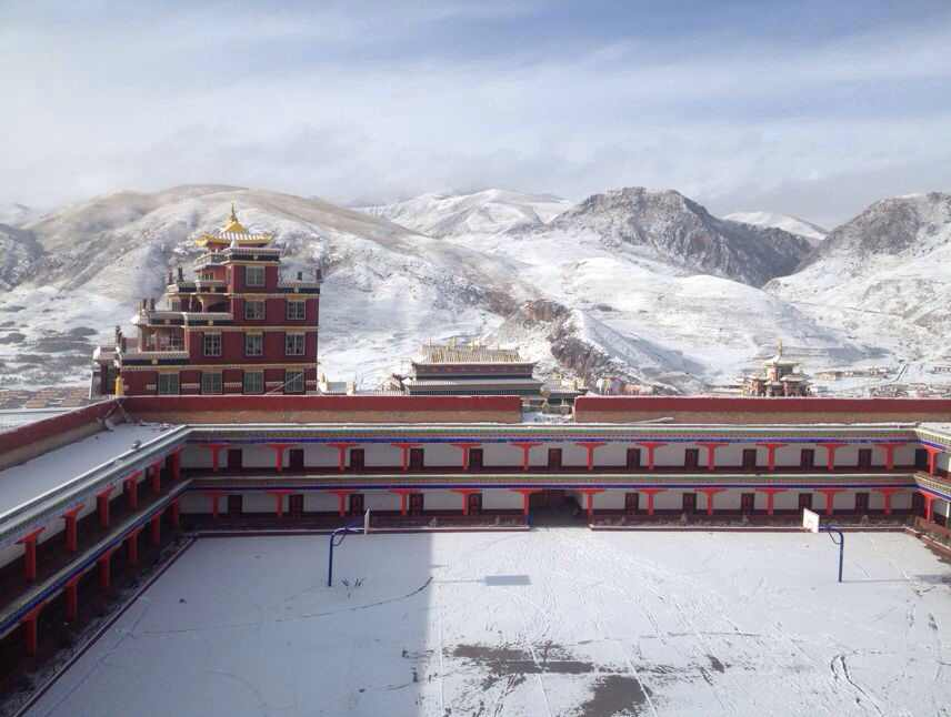 Zurmang Namgyal Tse Monastery in the Snow