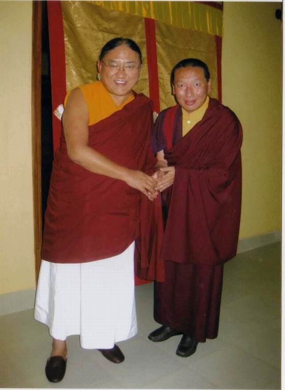 With Sakya Trizin